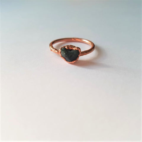 Custom Raw Emerald Ring Reserved for Portia