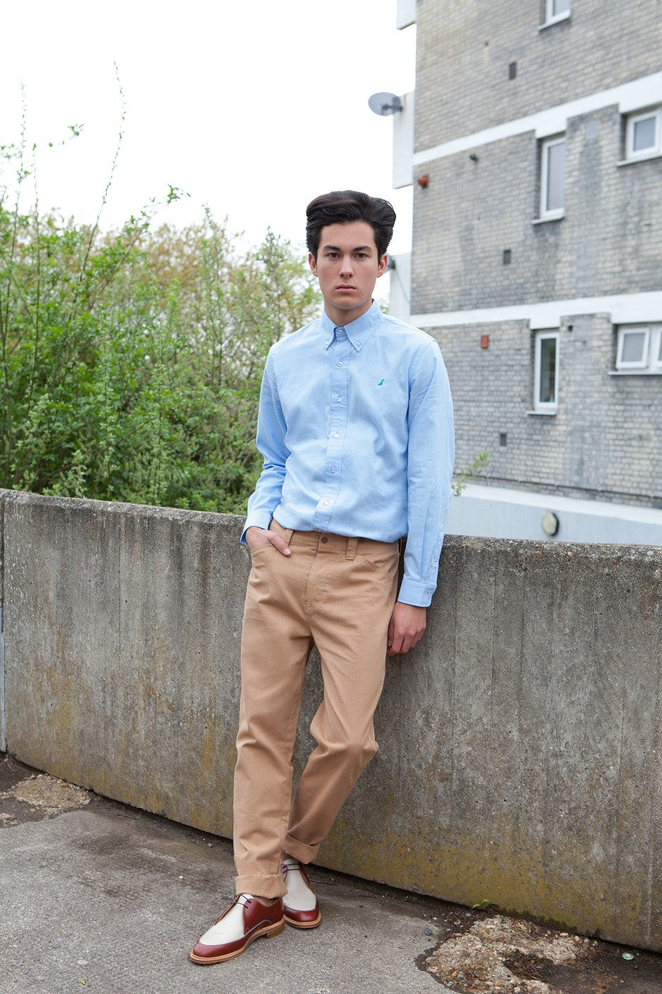 The Spaniel Oxford Shirt – Light Blue