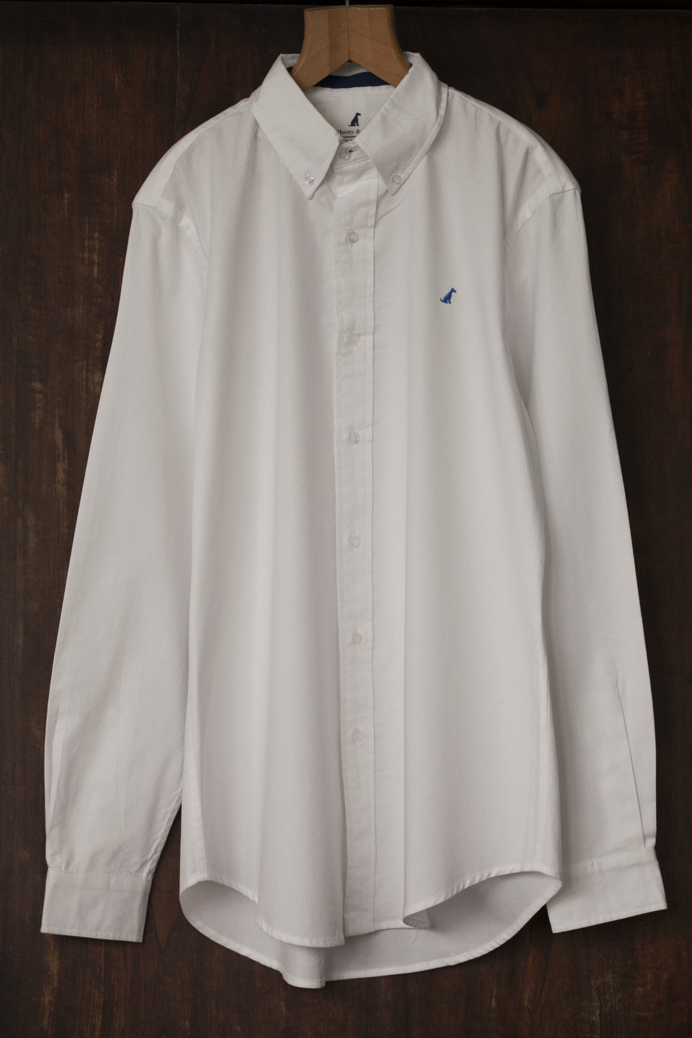 The Spaniel Oxford Shirt – White