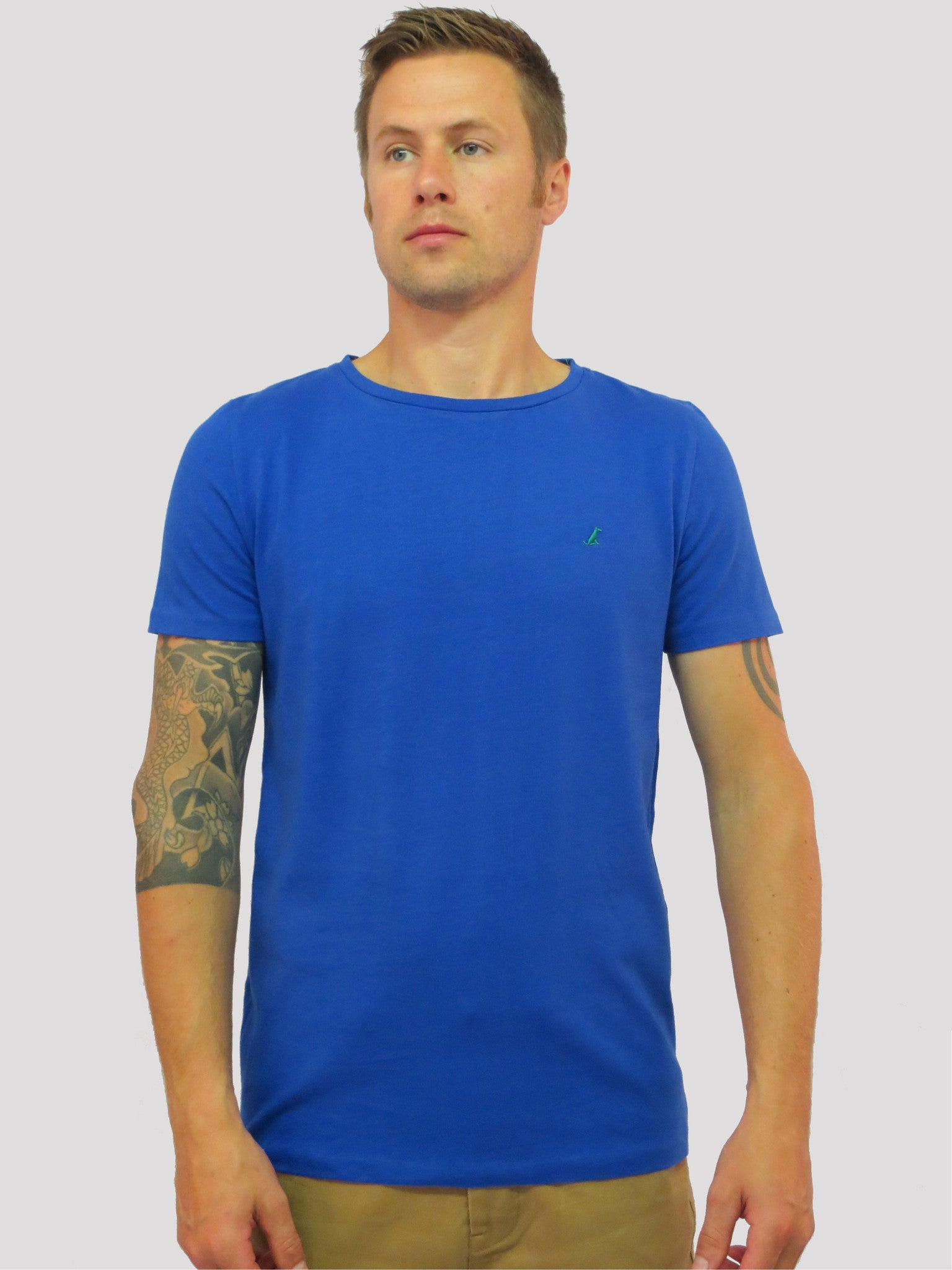 The Corgi Tee – Electric Blue