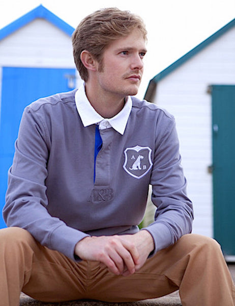 'Airedale' Rugby Shirt (Grey) by Anthony & Brown
