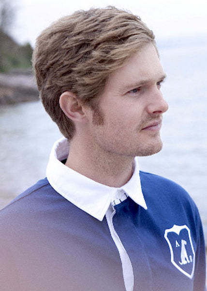 'Airedale' Rugby Shirt (Navy) by Anthony & Brown