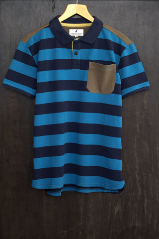 The Paignton Polo (Blue Stripes)