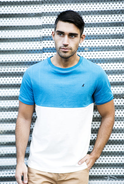 The Torquay T-shirt - Blue / White