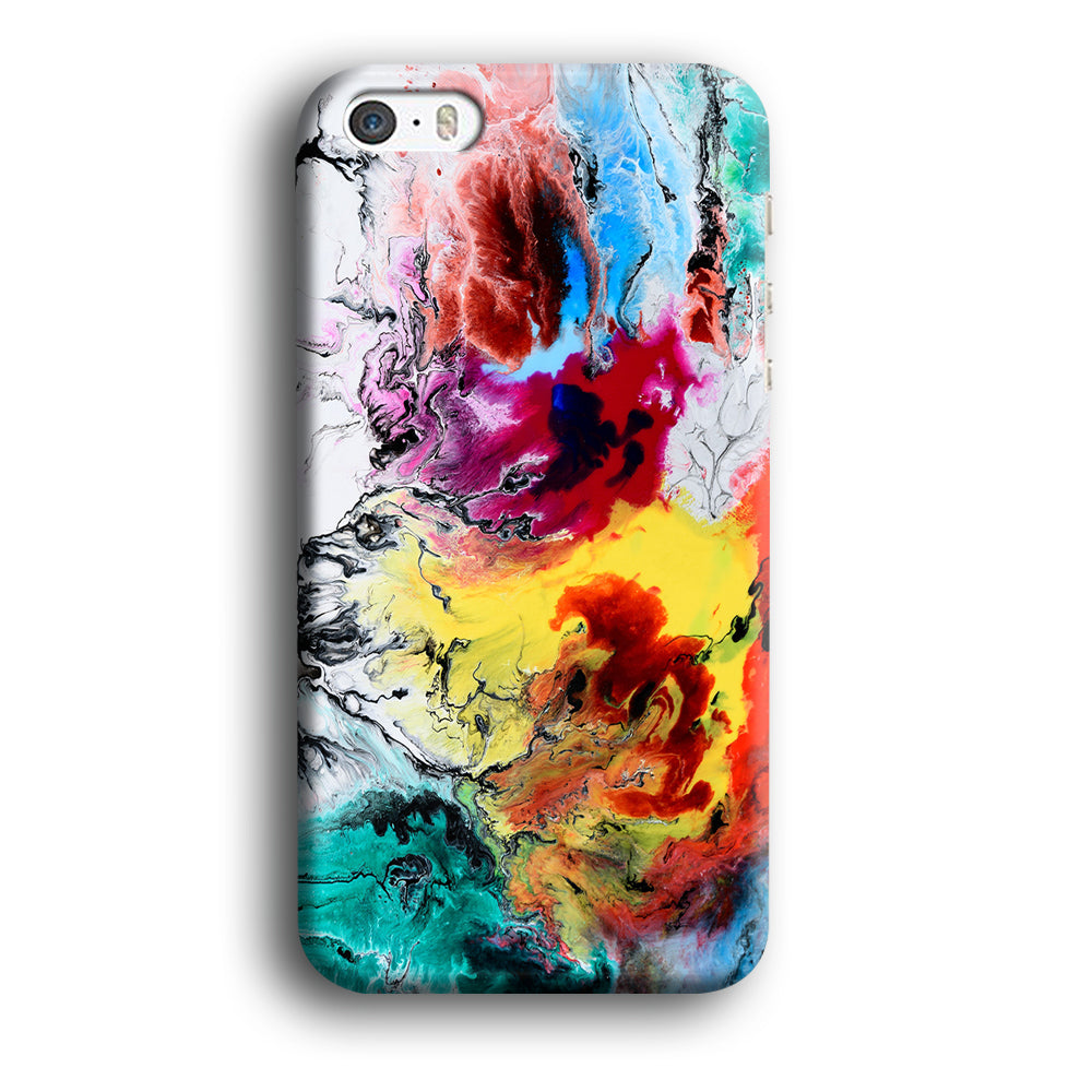 Art Abstract Painting Multicolor iPhone XR 3D Case