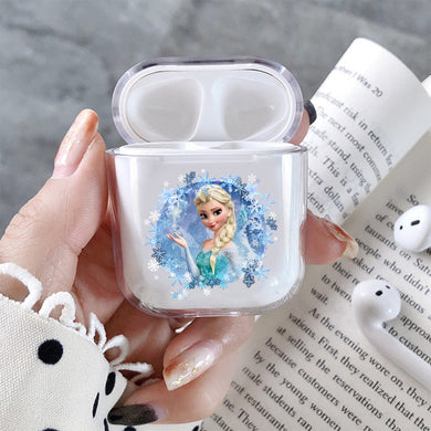 Elsa Frozen Hard Plastic Protective Clear Case Cover For Apple Airpods