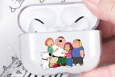 Family Guy Cartoon Hard Plastic Protective Clear Case Cover For Apple Airpod Pro