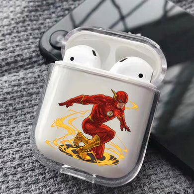 Flash Comic Hard Plastic Protective Clear Case Cover For Apple Airpods