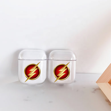 Flash Symbol Emblem Hard Plastic Protective Clear Case Cover For Apple Airpods