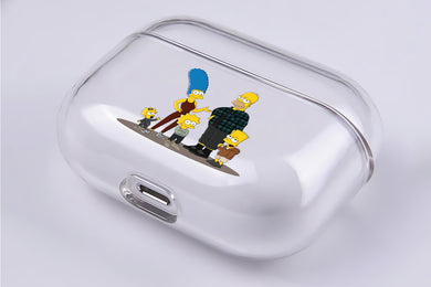 Homer Simpson Family Hard Plastic Protective Clear Case Cover For Apple Airpod Pro