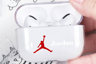 I Love Jordan Hard Plastic Protective Clear Case Cover For Apple Airpod Pro
