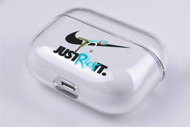 Just Rick It Hard Plastic Protective Clear Case Cover For Apple Airpod Pro
