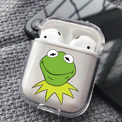 Kermit The Muppets Hard Plastic Protective Clear Case Cover For Apple Airpods