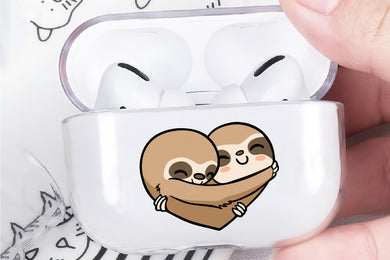 Love Sloth Hard Plastic Protective Clear Case Cover For Apple Airpod Pro
