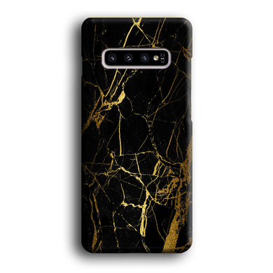 Marble Pattern Black and Gold Samsung Galaxy S10 3D Case