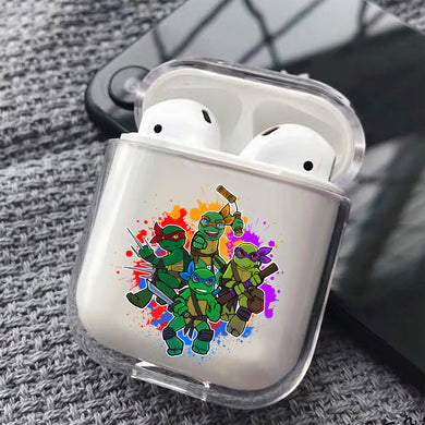 Ninja Turtles Mini Hard Plastic Protective Clear Case Cover For Apple Airpods