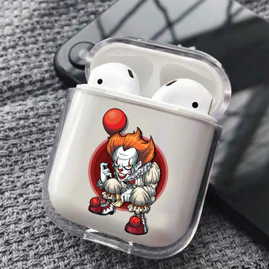 Pennywise The Clown Hard Plastic Protective Clear Case Cover For Apple Airpods