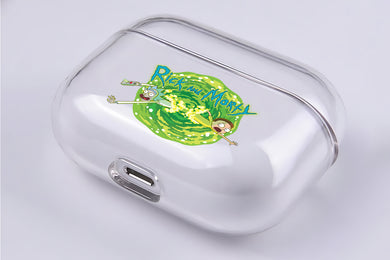 Rick and Morty Portal Hard Plastic Protective Clear Case Cover For Apple Airpod Pro