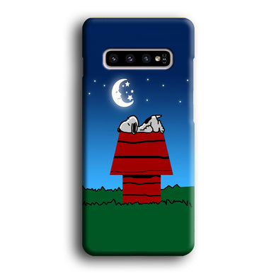 Snoopy Sleeps at Night Samsung Galaxy S10 3D Case