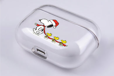 Snoopy and Three Woodstock Hard Plastic Protective Clear Case Cover For Apple Airpod Pro