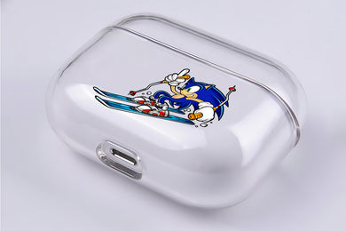 Sonic Play Snowboarding Hard Plastic Protective Clear Case Cover For Apple Airpod Pro