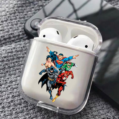 Superhero Comic Hard Plastic Protective Clear Case Cover For Apple Airpods