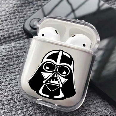 The Head of Darth Vader Hard Plastic Protective Clear Case Cover For Apple Airpods