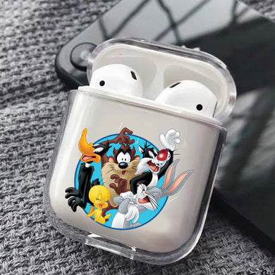 The Looney Tunes Family Hard Plastic Protective Clear Case Cover For Apple Airpods