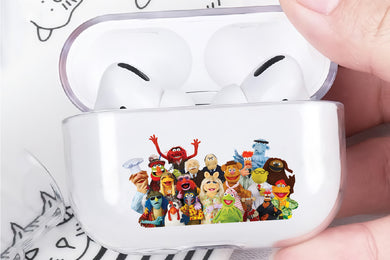 The Muppet Family Hard Plastic Protective Clear Case Cover For Apple Airpod Pro