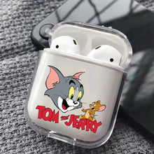 Load image into Gallery viewer, Tom Jerry Cartoon Hard Plastic Protective Clear Case Cover For Apple Airpods