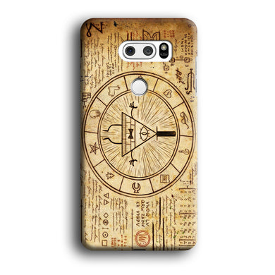 Treasure Map Gravity Falls LG V30 3D Case