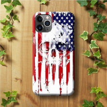Load image into Gallery viewer, USA Flag Skull iPhone 11 Pro Max Case