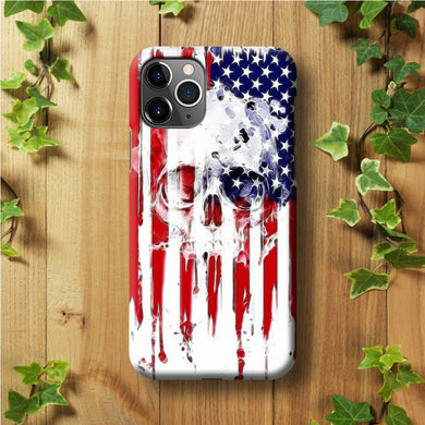 USA Flag Skull iPhone 11 Pro Max Case