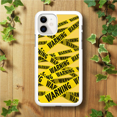 Warning Line Yellow iPhone 11 Case