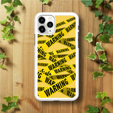 Warning Line Yellow iPhone 11 Pro Max Case