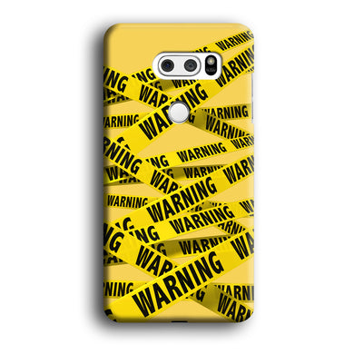 Warning Line Yellow LG V30 3D Case