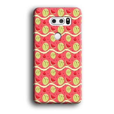 Watermelon Pattern Red LG V30 3D Case