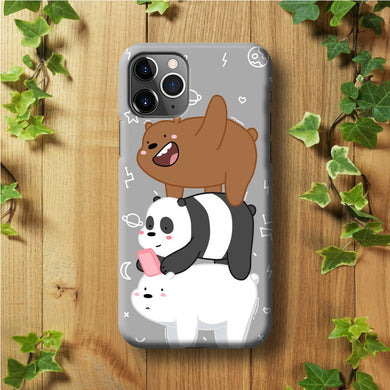 We Bare Bear Overlap iPhone 11 Pro Max Case