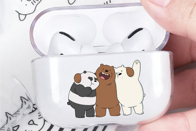 We Bare Bears Best Friends Hard Plastic Protective Clear Case Cover For Apple Airpod Pro