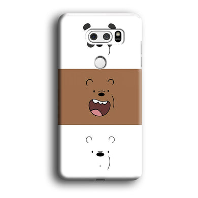 We Bare Bear Face LG V30 3D Case