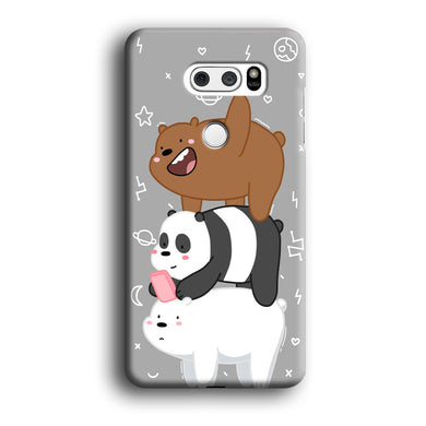 We Bare Bear Overlap LG V30 3D Case