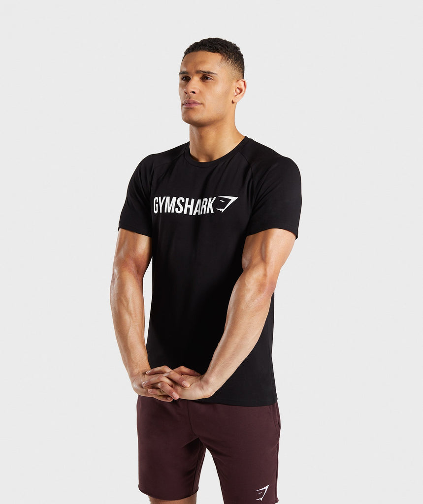Gymshark Apollo T-Shirt - Black/White 1