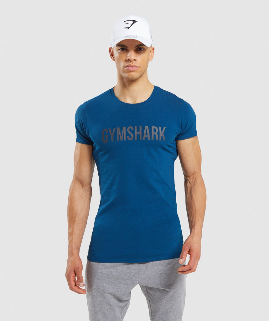 Gymshark Base T-Shirt - Petrol Blue 1