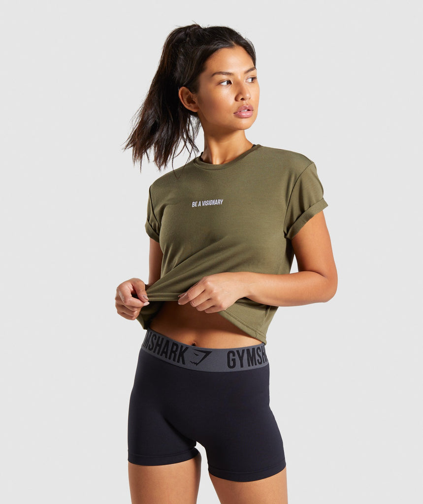 Gymshark Essential Be a Visionary Tee - Khaki 1
