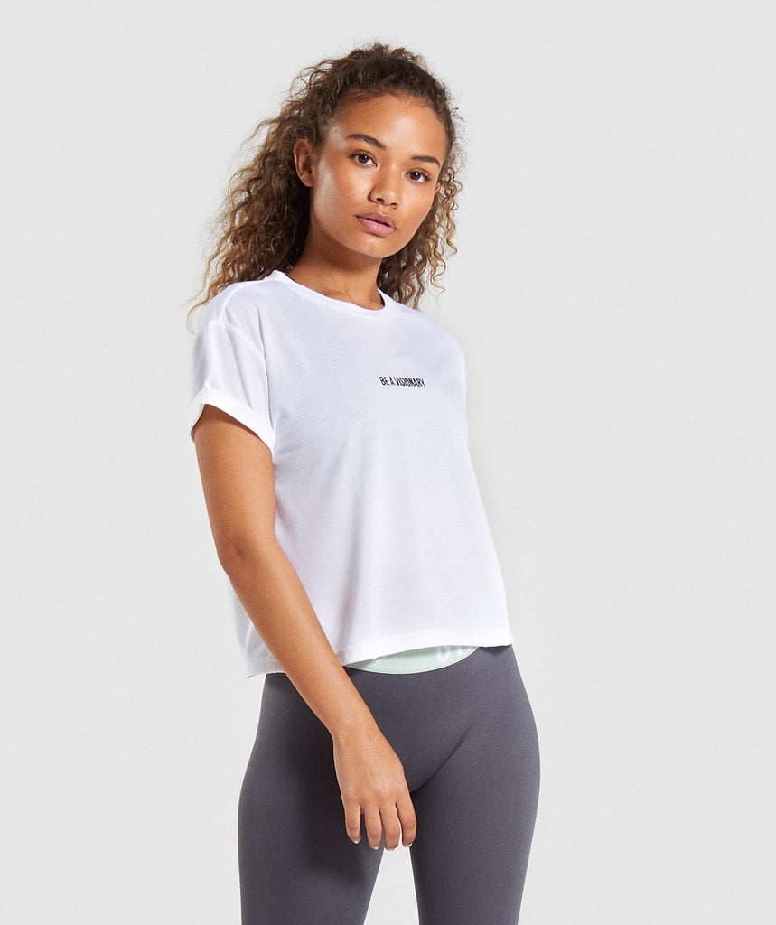 Gymshark Essential Be a Visionary Tee - White 1