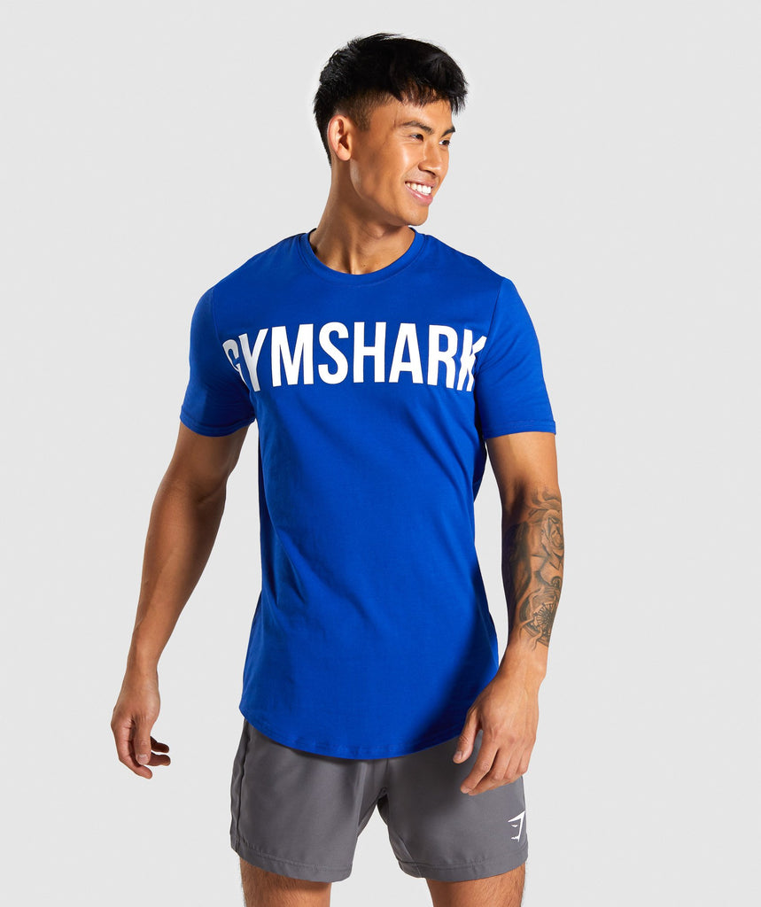 Gymshark Bold Graphic T-Shirt - Electric Blue 1