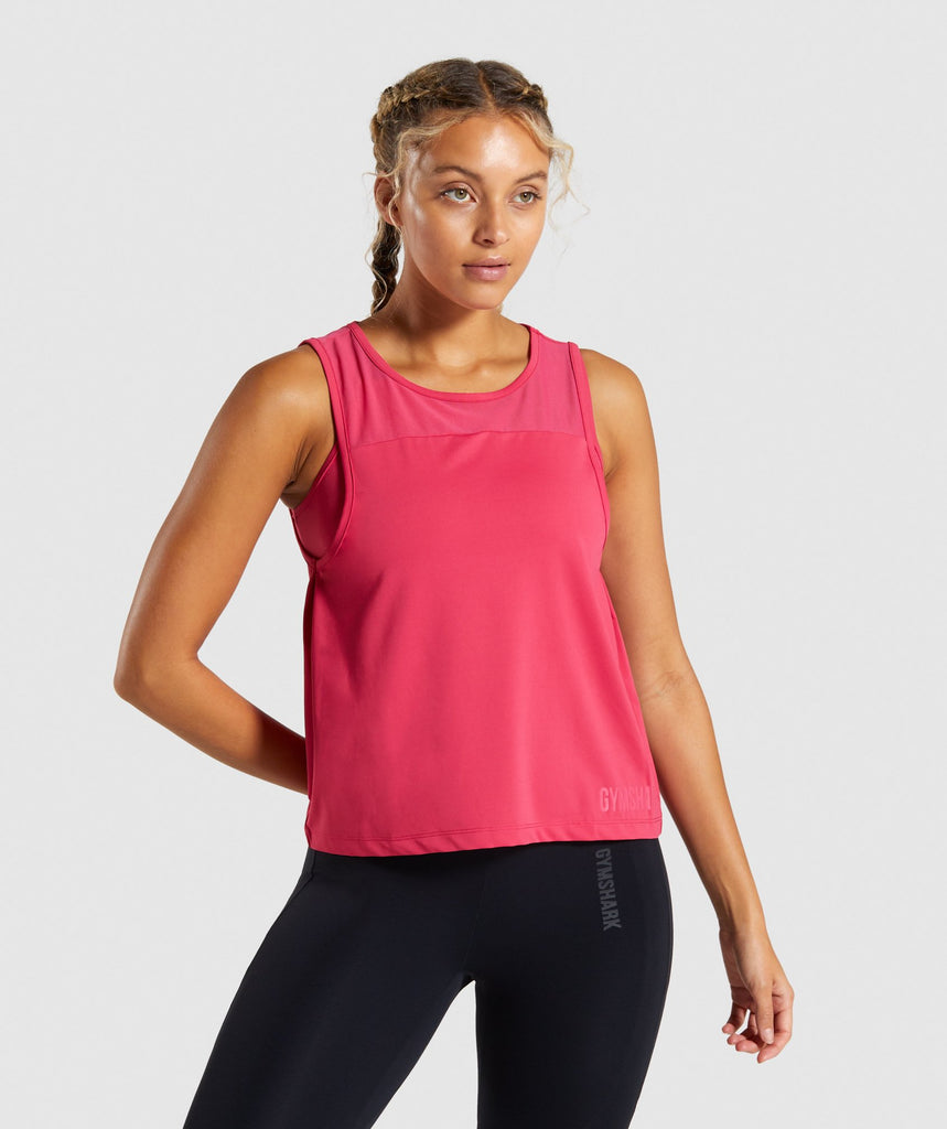 Gymshark Captivate Two in One Tank - Fuchsia 1