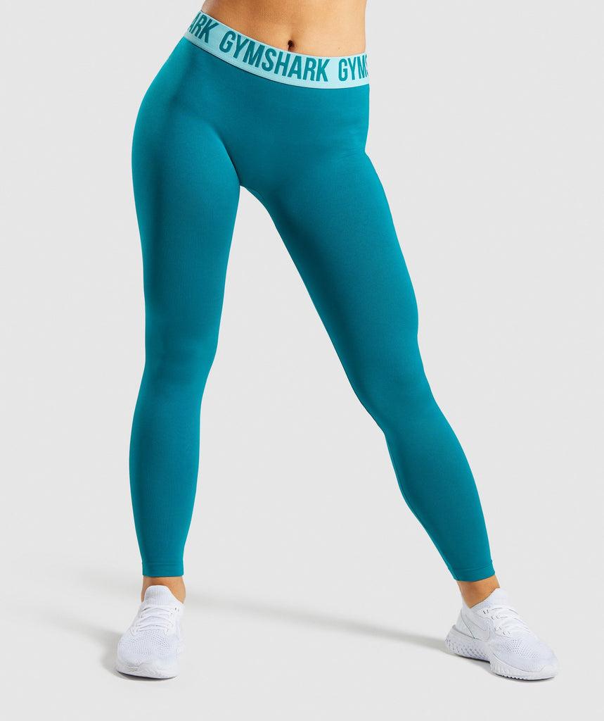 Gymshark Fit Leggings - Emerald/Aqua Green 1
