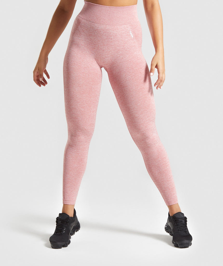 Gymshark Flex High Waisted Leggings - Pink/White 1