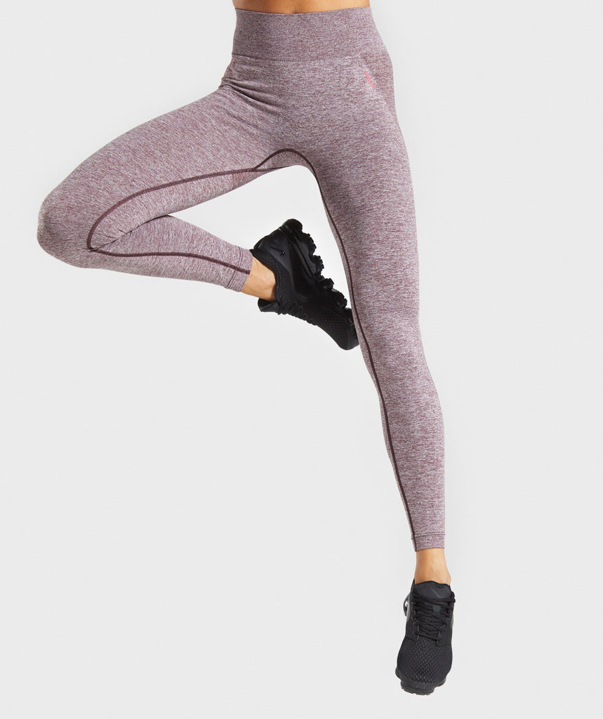 Gymshark Flex High Waisted Leggings - Berry/Rose 1